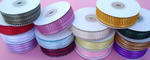 "3/8"" FEATHER EDGE satin ribbon-50yds/roll, IVORY"