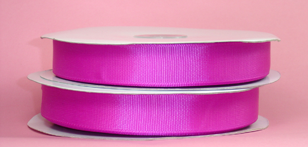 "5/8"" grosgrain ribbon-50yds/roll, FUSHIA"