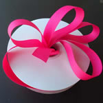 "1-1/2"" grosgrain ribbon-50yds/roll, SHOCKING PINK"