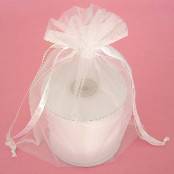 "3x4"" organza bag-30/pk, WHITE"
