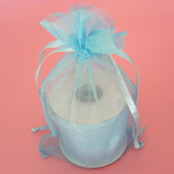 "22x25.5"" giant organza bag-10/pk, LT BLUE"