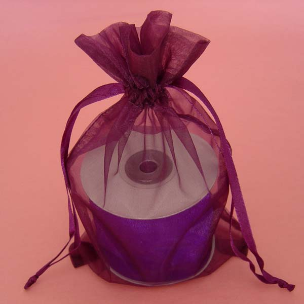 "3x4"" organza bag-30/pk, PURPLE"