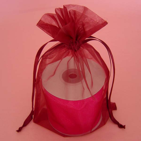 "20x21"" giant organza bag-10/pk, WINE"