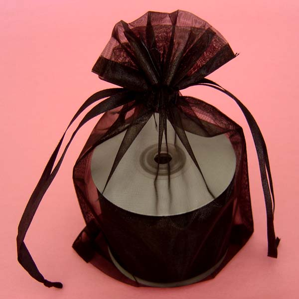 "22x25.5"" giant organza bag-10/pk, BLACK"