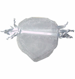 "4x3-1/2"" HEART SHAPED organza bag-30/pk, WHITE"