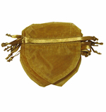 "4x3-1/2"" HEART SHAPED organza bag-30/pk, GOLD"