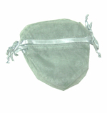 "4x3-1/2"" HEART SHAPED organza bag-30/pk, LT SILVER"