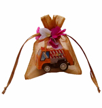"3x4"" MINI PETAL organza bag-30/pk, GOLD"