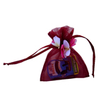 "3x4"" MINI PETAL organza bag-30/pk, WINE"