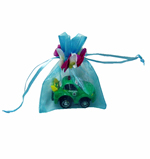 "3x4"" MINI PETAL organza bag-30/pk, LT BLUE"