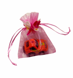"3x4"" MINI PETAL organza bag-30/pk, PINK"