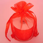 "3x4"" organza bag-30/pk, RED"