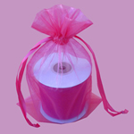 "3x4"" organza bag-30/pk, HOT PINK"