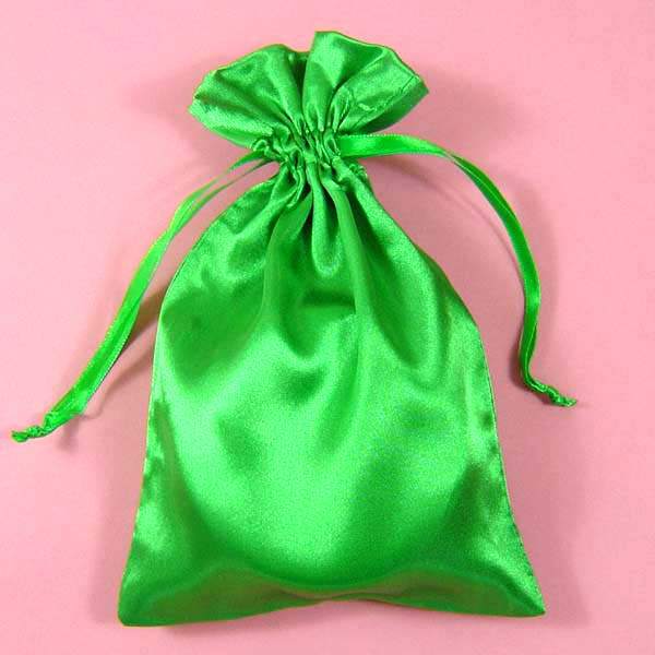"3x4"" satin bag-30/pk, MOSS GREEN"