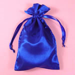 "5x8"" satin bag-30/pk, ROYAL BLUE"
