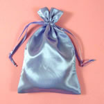 "5x8"" satin bag-30/pk, FRENCH BLUE"