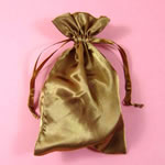 "5x8"" satin bag-30/pk, BROWN"