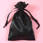 "5x8"" satin bag-30/pk, BLACK"