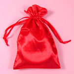 "5x8"" satin bag-30/pk, RED"