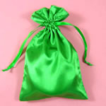 "5x8"" satin bag-30/pk, MOSS GREEN"