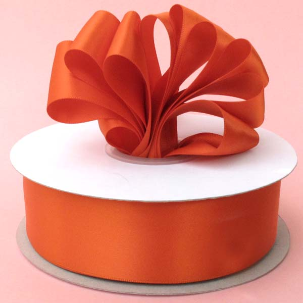 "5/8"" DOUBLE FACED satin ribbon-100yds/roll, ORANGE"