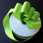 "3/8"" DOUBLE FACED satin ribbon-100yds/roll, APPLE GREEN"