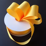 "3/8"" DOUBLE FACED satin ribbon-100yds/roll, LT GOLD"