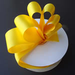 "3/8"" DOUBLE FACED satin ribbon-100yds/roll, YELLOW"