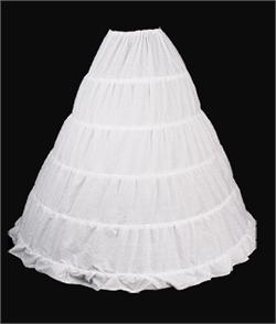 "Petticoat-5 Hoop, WHITE, 132"" circle x 42"" long"