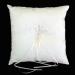 wedding ring pillow, IVORY
