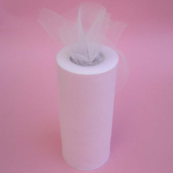 "6"" tulle fabric-100YDS/SPOOL, LT PINK"